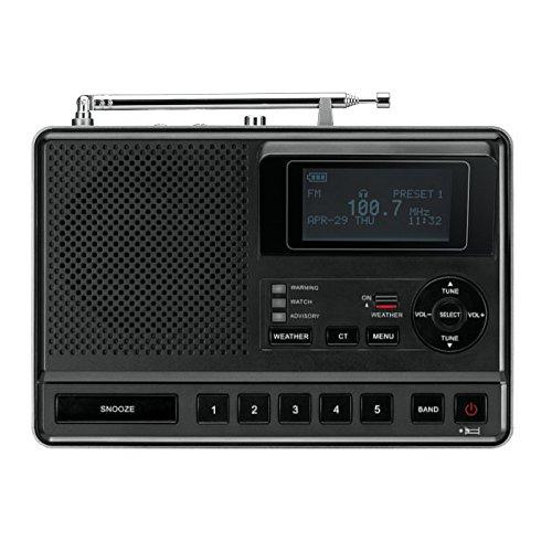 Sangean S.A.M.E. Table-top Weather Hazard Alert with AM / FM-RBDS Alarm Clock Radio