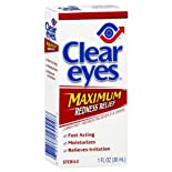 Clear Eyes Lubricant/Redness Reliever Eye Drops, Redness Relief 0.5 fl oz (15 ml)