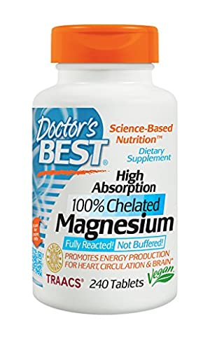 Doctor's Best High Absorption Magnesium , 240-Count