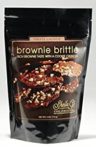 Sheila G's Brownie Brittle, Toffee Crunch, 4-Ounce (Pack of 6)