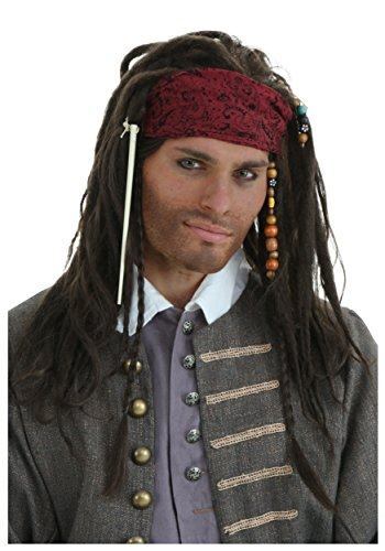 Authentic Jack Wig (Standard) Pirate Costume Wig