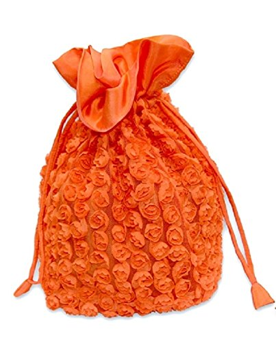Lantern Moon Rosette Bag for Small Knitting Projects - Orange by Lantern Moon