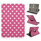 Trio Quad Core 7.85 inch Tablet Polka Dots Pink 360 rotating CASE COVER STAND