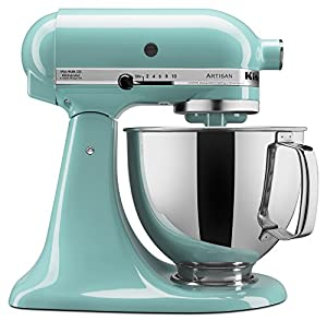 KitchenAid KSM150PSAQ 5-Quart Artisan Series Mixer with Pouring Shield, Aqua Sky