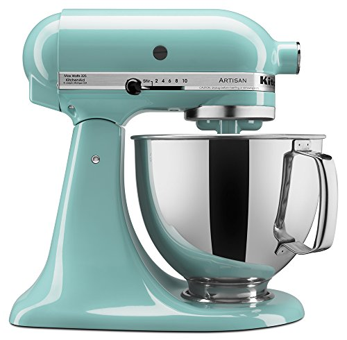 KitchenAid KSM150PSAQ Artisan Series 5-Qt. Stand Mixer with Pouring Shield - Aqua Sky (Stand For Hand Mixer compare prices)