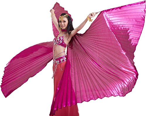 Dance Fairy 2016 Rose Red Opening Belly Dance Isis Wings Party Performance Gift