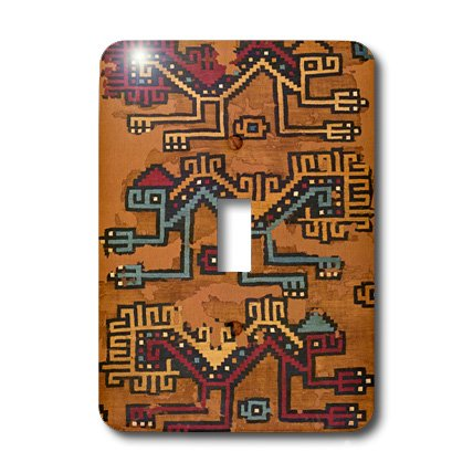 Lsp_181087_1 Florene - Vintage Textiles - Image Of Peruvian Fabric Pattern From Year 500 - Light Switch Covers - Single Toggle Switch