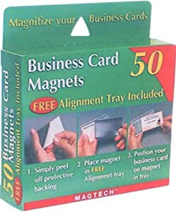 Amazon Magtech Business Card Magnets with Alignment