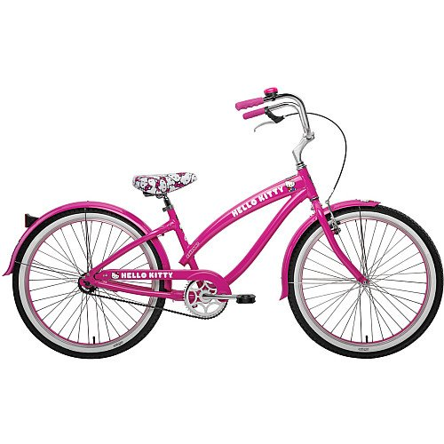 Nirve Retro Kitty Ladies/Girls Bicycle (Pink, 24-Inch)