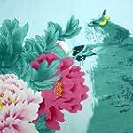 Pink Aqua Flowers & Nature Scarf
