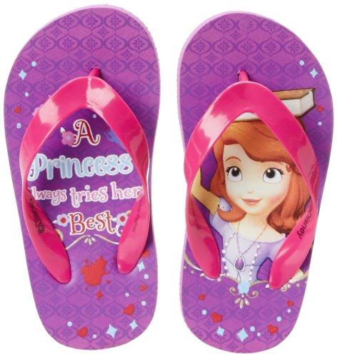 Disney Sofia The First Flip Flop (Toddler/Big Kid),Purple/Pink,8 M Us Toddler front-888670