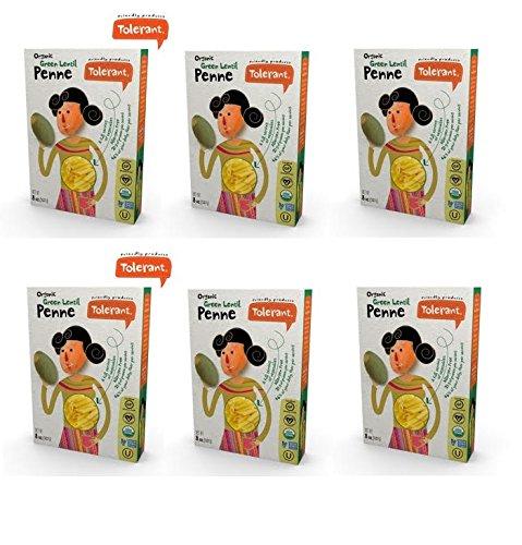 Tolerant Organic Non GMO Penne (Green Lentil) 6-PACK (Green Lentil Pasta compare prices)