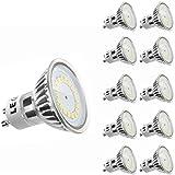LE 3.5W MR16 GU10 Ampoule LED, équivalente à ampoules halogènes 50W, 3000K, Blanc chaud,Pack de 10 Unités