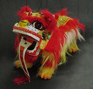 Amazon.com: Chinese Lion Dragon Marionette Puppet #21423 ...