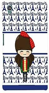 PrintVisa Cartoon Paris Girl Case Cover for Sony Xperia Z5 Premium