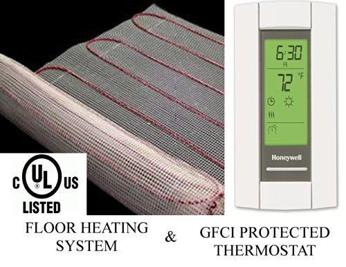75 Sqft Warming Systems 120 V Electric Tile Radiant Floor Heating Mat with GFCI Protected Programmable Thermostat (Tile Floor Heater compare prices)