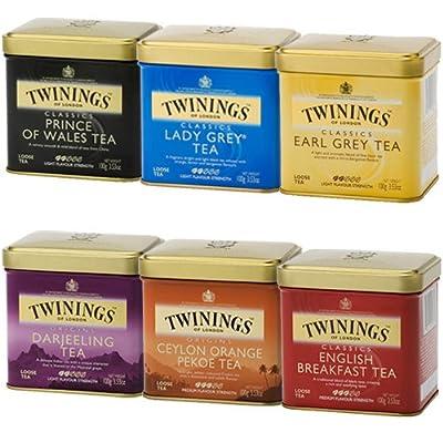 Twinings Schwarztee lose Dose 6er Set von Twinings - Gewürze Shop