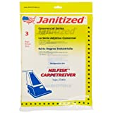 Janitized JAN-NFCPTVR(3) Paper Premium Replacement Commercial Vacuum Bag, For Nilfisk Carpetriever 28, Euroclean... at Sears.com