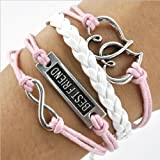World Pride Infinite Love Best Friend Multi Leather Strand Adjustable Bracelet