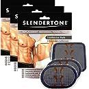 Slendertone Replacement Gel Pads for All Slendertone Abdominal Belts, 3 Sets (9 Gel Pads)