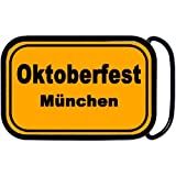 Orange Munchen Oktoberfest Belt Buckle