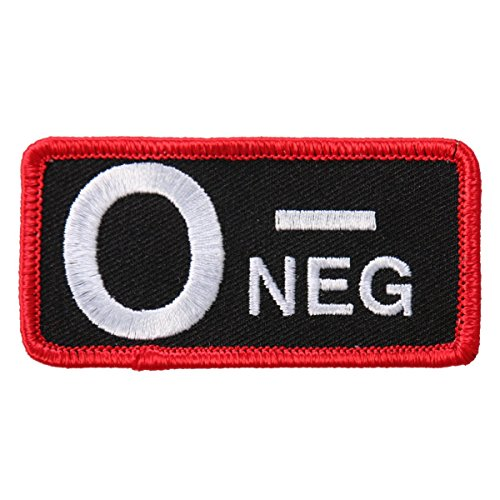 hot-leathers-blood-type-o-neg-iron-on-saw-on-rayon-high-thread-patch-toppa-3-x-2-exceptional-quality