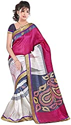 Moradiya International Export Women's Exclusive Designer Bhagal Puri silk Saree with Blouse Pices(Color:As Shown Image_Designer Print)
