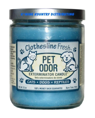 Pet Odor Exterminator Jar Candle - Clothesline Fresh