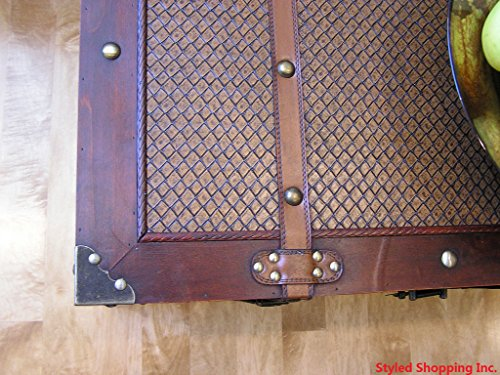 Boston Wood Chest Wooden Steamer Trunk - Large Trunk 3