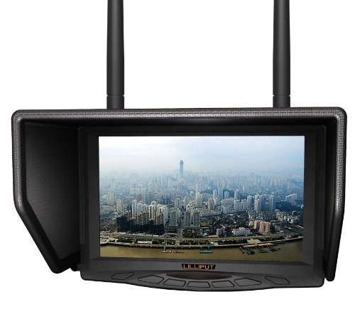 """Lilliput 7"""" 329Dw Dual Receiver 5.8Ghz 4 Bands 32Channels Fpv Monitor For Fly Wireless Camera And For Big Helicopter With Lp-E6 Battery And Charger Works With Fat Shark,Dji And Boscam Transmitter By Lilliput Official Seller :Viviteq"""