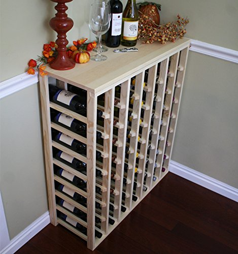 56 Bottle Table pine Wine Rack by VinoGrotto