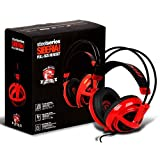 Steelseries Siberia V2 Full-size Red MSI Dragon Edition Headband Headsets (Color: Red)
