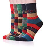 Color City Womens Super Thick Warm Vintage Wool Socks,Christmas Gift
