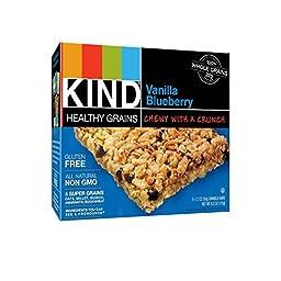 Kind Healthy Grains Granola Bars, Vanilla Blueberry, 1.2oz Bars, 40 Count (8/5x1.2 Oz)