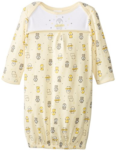 Absorba Unisex-Baby Newborn Uni Penguin Parade Gown, Yellow/Print, One Size front-747870