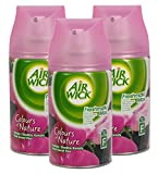 3x Airwick Freshmatic Max Spray Refills Pink Sweet Pea 250ml each