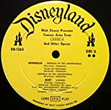 CARMEN WALT DISNEY'S FAMOUS ARIAS vinyl record