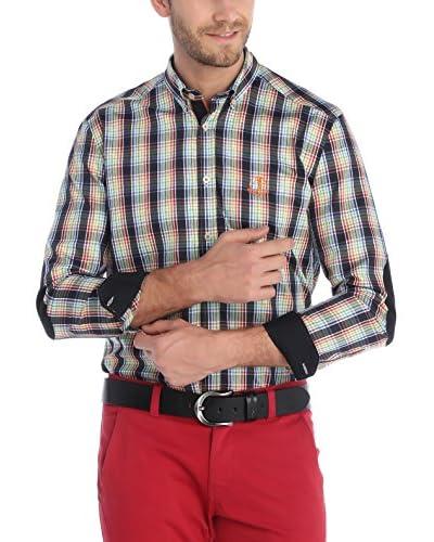 SIR RAYMOND TAILOR Camisa Hombre Verde / Negro / Rojo