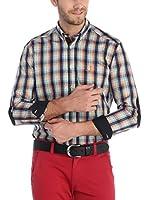 SIR RAYMOND TAILOR Camisa Hombre (Verde / Negro / Rojo)