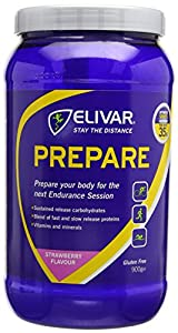 Elivar 900g Strawberry Flavour Prepare Pre-Training Energy and Protein Drink Mix