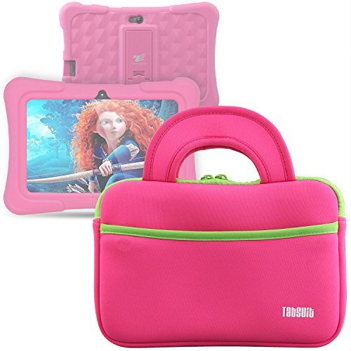 Sale!! TabSuit 7 Dragon Touch Y88X/M7 Kids Tablet, KingPad K77 Tablet Ultra-Portable Neoprene Zippe...