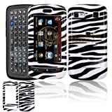 LG Xenon GR500 Cell Phone Black/White Zebra Design Protective Case Faceplate Cover + Free LiveMyLife Wristband