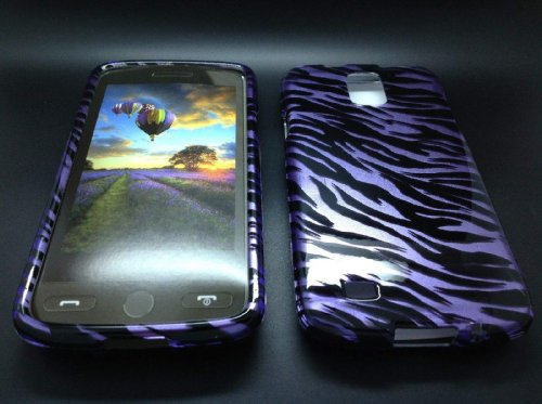 "Mylife (Tm) Violet Purple Zebra Stripes Series (2 Piece Snap On) Hardshell Plates Case For The Samsung Galaxy S4 ""Fits Models: I9500, I9505, Sph-L720, Galaxy S Iv, Sgh-I337, Sch-I545, Sgh-M919, Sch-R970 And Galaxy S4 Lte-A Touch Phone"" (Clip Fitted Front"