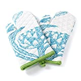 JaipurSe white Kitchen Oven Gloves / Mitts