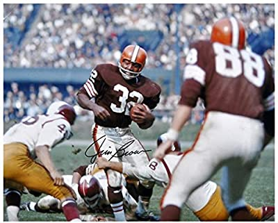 "Jim Brown Cleveland Browns Autographed 16"" x 20"" vs Washington Redskins Photograph - Fanatics Authentic Certified"