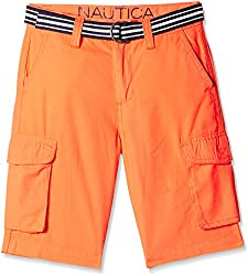 Nautica Kids Boys' Shorts (N465102Q633_Coral sun_6 - 7 years)