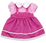 Ebuddy Cute Pink Color Dress Doll Clothes For 16 Inch (35-40cm) High Simulation Baby