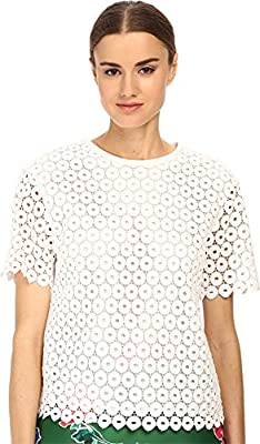 Kate Spade New York Women's Guipure Lace Scallop Top