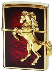 ZIPPO(ジッポー) ゴールドプレート ウイニングウィニー メタル貼り ディープレッド