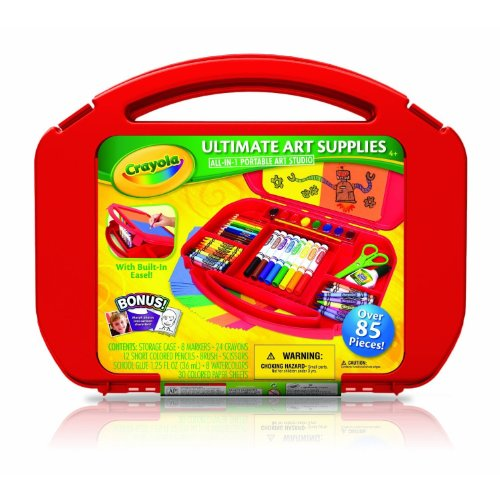 Crayola Ultimate Art Case with Build in Easel (OVER 85 PIECES)(COLORS VARY) (AGES 4AND UP)